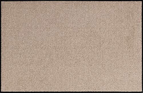 Erwin Müller Fußmatte, Schmutzfangmatte Uni Sand Größe 40x60 cm - rutschfest, pflegeleicht, für Fußbodenheizung geeignet (weitere Farben, Größen)