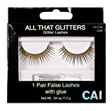 CAI Cosmetics All That Glitters Gold Eyelashes | Reusable, Long Lasting & Easy-to-Apply, Comfortable Lashes
