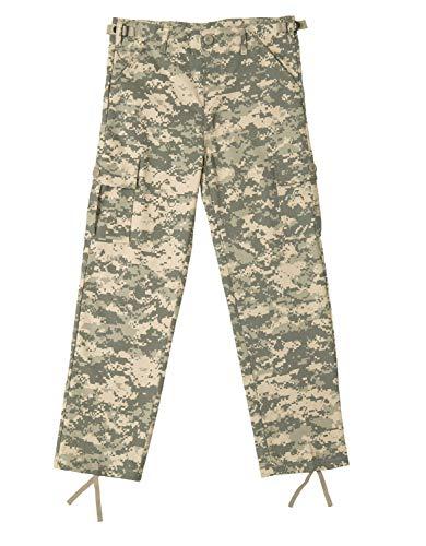 Rothco Kids Digital Camo BDU Pants, ACU Digital Camo, L