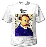 Photo de teesquare1st Men's Edward Elgar Composer T-Shirt Blanc avec Imprimé Size Large par