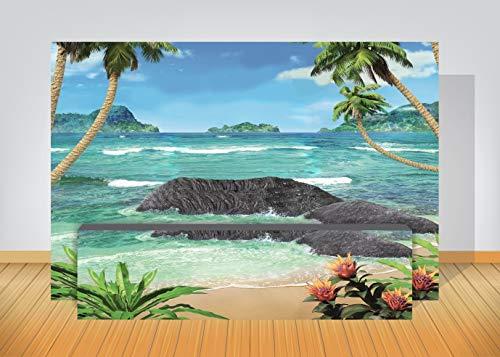 Kit Profissional de Lona Praia Ilha Deserta