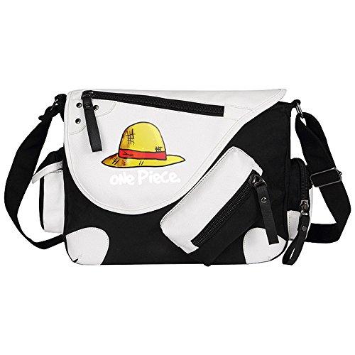 Siawasey, Handtasche / Umhängetasche / Messenger Bag, Motiv: japanischer Anime / Cosplay schwarz One Piece2