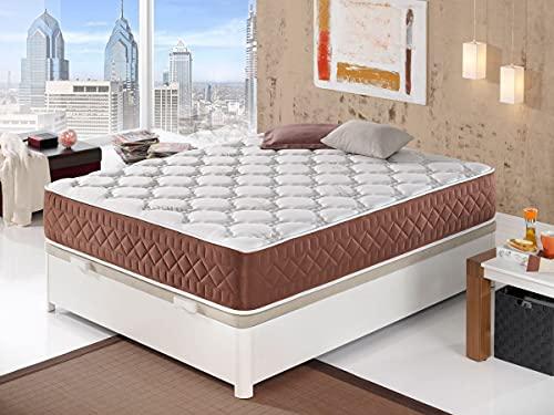 Moisury Colchón viscoelástico EVO   Colchón de 30 cm de Grosor  2 centímetros de viscoelástica   Colchón de firmeza Media   5 Capas de Espumas Premium   (90x200)