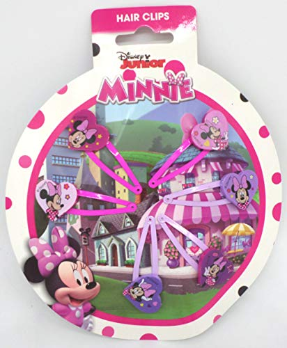 TDL Disney Minnie Mouse Set - 6 Haarklips - Offiziell Lizensiert - 6 Hair Clips