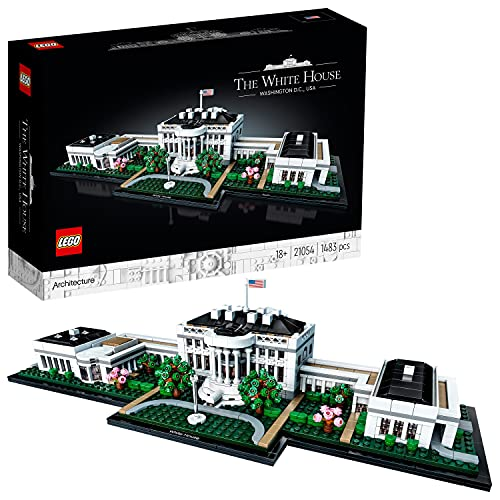 LEGO 21054 Architecture Das Weiße Haus, Sammlung von Sehenswürdigkeiten für Erwachsene, Geschenkidee zum Sammeln