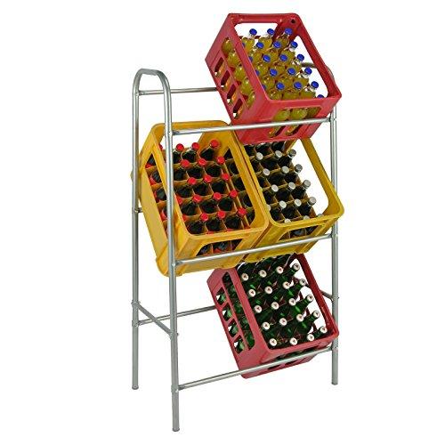 HI Flaschenkastenständer für 6 Kisten Getränkekistenständer Kastenständer Getränkekistenregal Flaschenkisten Halter