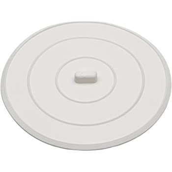 DANCO Flat Suction Sink Stopper, 5 Inch, White, 1-Pack (89042)
