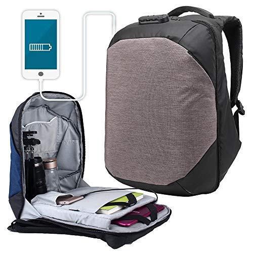 Custodie per Fotocamere Treppiede Portatile Impermeabile Antiurto Pickproof Blocco Camera Bag Bagagli Zaino - caffè per la Protezione telecamere (Color : Coffee, Size : 45x35x14cm)