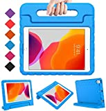 "BMOUO New iPad 10.2 2019 Kids Case, iPad 7th Generation Case, iPad 10.2 2019 Case, Shockproof Light Weight Convertible Handle Stand Case for iPad 10.2"" Latest Model (A2197 A2200 A2198), Blue"