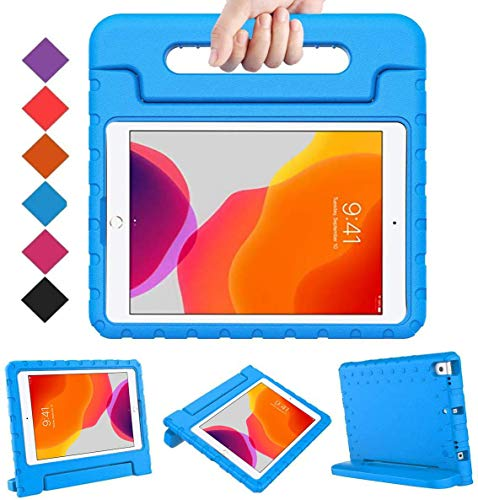BMOUO iPad 8th Generation Case for Kids,iPad 7th Generation Case,iPad 10.2 Case, Shockproof Light Weight Convertible Handle Stand Kids Case for New iPad 10.2 2020 Latest Model, Blue