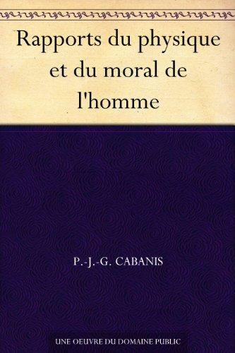 Couverture du livre Rapports du physique et du moral de l'homme