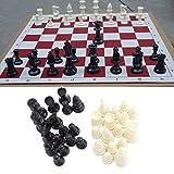 Chess Chessmen International Chess Set Tournament Chessmen - Juego educativo de mesa (plástico), color negro