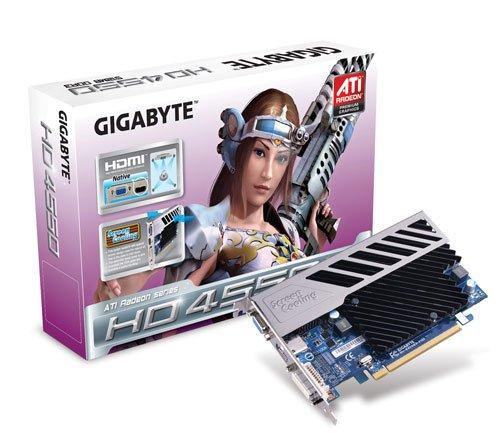 Gigabyte ATI Radeon HD 4550 Grafikkarte (PCI-e, 512MB GDDR3 Speicher, Dual DVI-I, D-Sub, HDMI-Ausgang, 1 GPU)