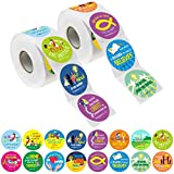 1200 Christian Prayer Faith Bible Verse Stickers in 16 Designs with Perforation Line (Each Measures 1.5' in Diameter)