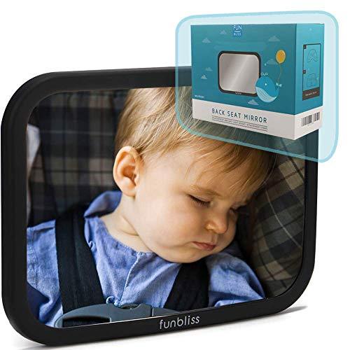 Rücksitzspiegel fürs Baby,Bruchsicherer Auto-Rückspiegel für Babyschale , 360° schwenkbar,Autositz-Spiegel ohne Einzelteile
