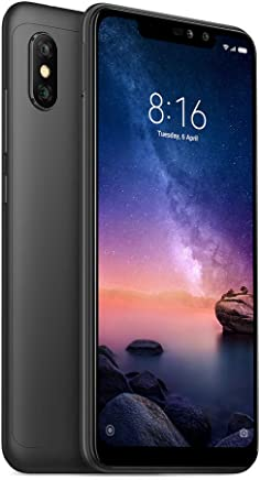 "Xiaomi Redmi Note 6 Pro, 64GB/4GB RAM, 6.26"" FHD+ Snapdragon 636, Negro Version Global Desbloqueado"