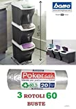 Bama 1 Tris + 60 Poker sac PATTUMIERA PATTUMIERE Poker Elegant Tris Raccolta DIFFERENZIATA Novita'