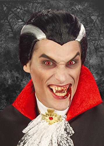 Struts Fancy Dress Mens Halloween comte Dracula Perruque