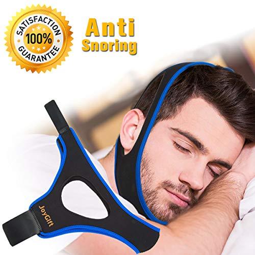 Dispositivi Anti Russare, Cinturino per il Mento Anti Russare Soluzione Russante Cinturino Stopper Snore Regolabile per Sleep Aid Snoring Riduzione Chin Strap per Uomo Donna