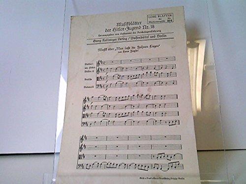 Musikblätter der Hitler-Jugend Nr. 18 - Musik über