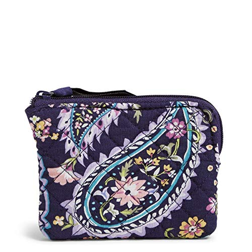Vera Bradley womens Signature Cotton Coin Purse Accessory, French Paisley, One Size US