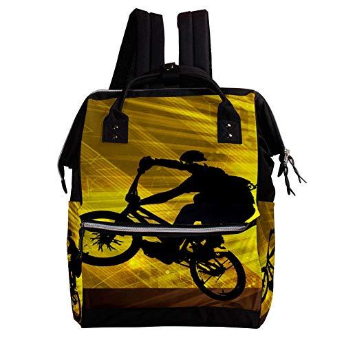 TIZORAX Ciclista Bicicleta Deporte Pañal Mochila de Gran Capacidad Bolsa de Bebé Multifunción Bolsas de Pañales Viaje Mamá Mochila para Cuidado del Bebé