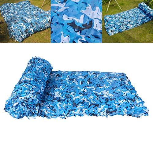 Tarnnetz Einzelne Schicht Blau,150D Tarnnetze Polyester Oxford Stoff,für Autoabdeckungen Zeltschirm Camping Sonnenschutz Shooting Jagd Party Fotografie 2X3 3X3 3X4(1.5x10m(5x32.8ft))