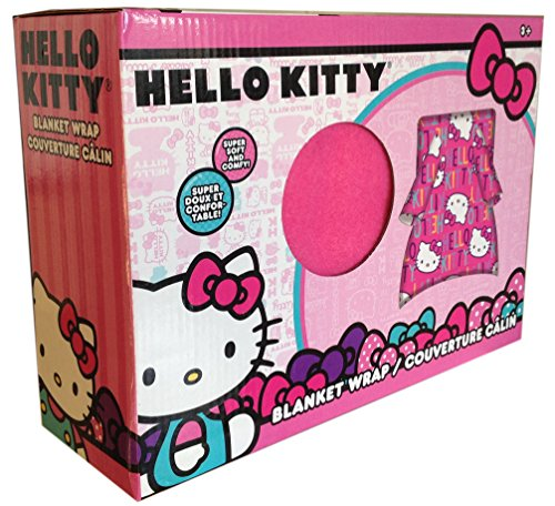 Hello Kitty Blanket Buddy Couverture polaire pour enfant Rose 43,2 x 42,9 cm