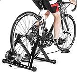 WLGQ Bicicleta Turbo Trainer, Soporte para Entrenador de Bicicletas para Interiores, Plegable para el hogar, 6 velocidades, Resistencia magnética, Bicicleta, Rodillo, reducción de Ruido para Bici