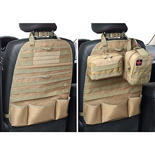 MiOYOOW Auto Rückenlehnenschutz, Autositz Organizer, Tactical Seat Back Protector für Autositz