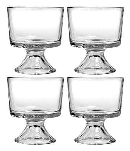 Anchor Hocking Presence Mini Trifle Footed Dessert Bowls, Set Of 4 (80625R)