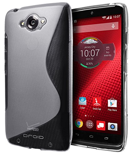 Motorola DROID Turbo Case, Cimo [Wave] Premium Slim TPU Flexible Soft Case For Motorola DROID Turbo (Verizon, Not Compatible with Ballistic Nylon Version) - Clear