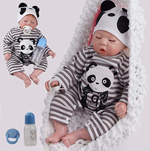 ZIYIUI 20 pulgadas 50cm Muñecas Reborn Bebé Niño Vinilo Silicona Suave Realista Hecho a Mano Niño Recién Nacido Niño Dormido Juguetes Magnéticos Baratos Regalos de Navidad Reborn Dolls