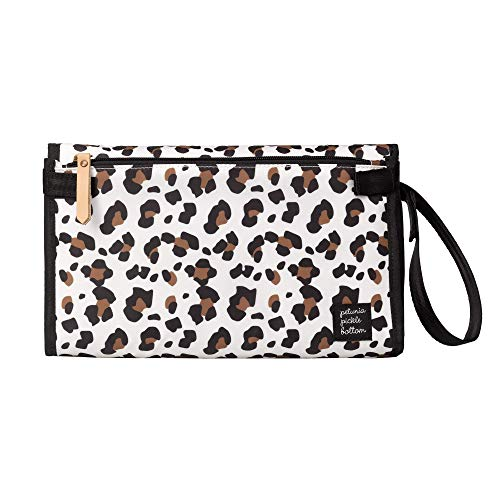 Petunia Pickle Bottom Nimble Diaper Clutch | Compact Clutch with Fold-Out Changing Pad | Diaper Clutch | Small Baby Diaper Bag | Stylish Diaper Clutch for On-The-Go Moms and Dads | Leopard