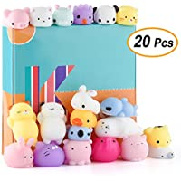 20-Pieces Kuuqa Kawaii Animal Mochi Squishies Toys for Kids Birthday Party Supplies