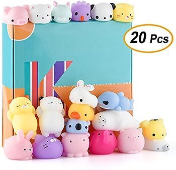 20-Pieces Kuuqa Kawaii Animal Mochi Squishies Toys