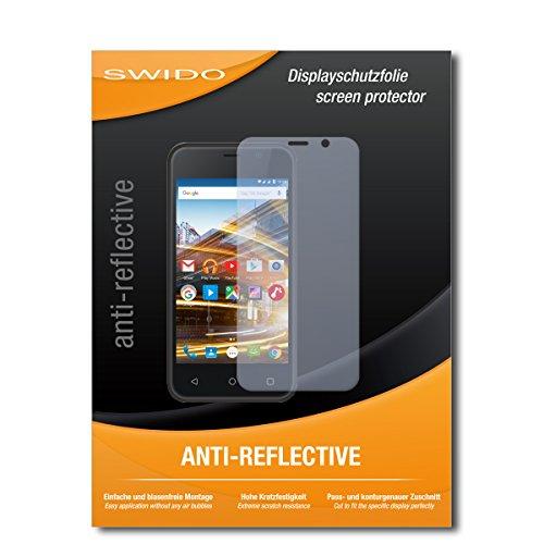 SWIDO Schutzfolie für Archos 40 Neon [2 Stück] Anti-Reflex MATT Entspiegelnd, Hoher Festigkeitgrad, Schutz vor Kratzer/Bildschirmschutz, Bildschirmschutzfolie, Panzerglas-Folie