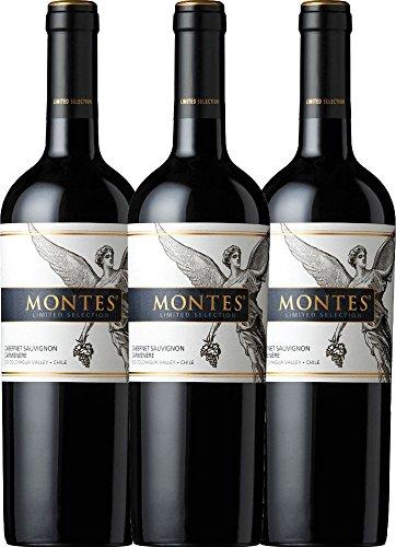 3er Paket - Limited Selection Cabernet Sauvignon Carmenère 2017 - Montes | trockener Rotwein | chilenischer Wein aus Valle Central | 3 x 0,75 Liter