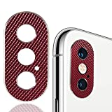 iPhone X/Xs/Xs Max Camera Lens Protector 2-Pack, WENSUNNIE Premium Aluminum Alloy Back Rear Camera Lens Screen Cover Case Shield Compatible with iPhone X XS Max (Red, iPhone XS/XS MAX)