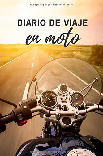 Diario de viaje en moto: Es un cuaderno para llevar un registro y un seguimiento de todas sus rutas en moto - Formato 16 x 23cm con 102 páginas - Regalo original para los amantes de las motos