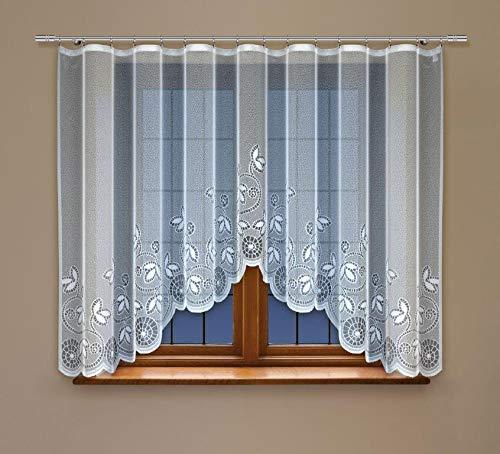 HAFT® Bogengardine Store mit Kräuselband Vorhang Fertiggardine Jacquard