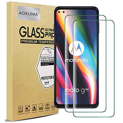 AOKUMA Cristal Templado MotorolaMotoG5GPlus, [2 Unidades] Protector...