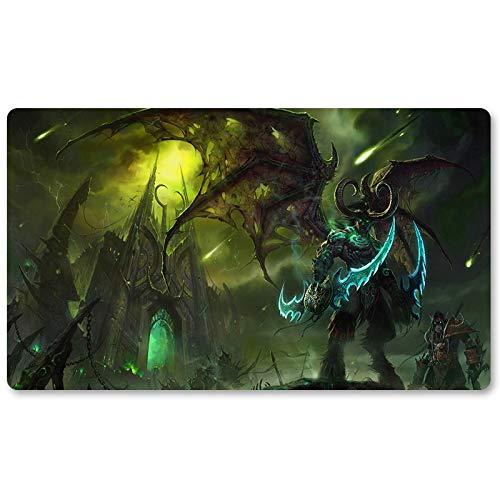 Warcraft6 - Tappetino da gioco Warcraft Wow, tappetino da tavolo per giochi, tastiera, dimensioni: 60 x 35 cm, per Yugioh Pokemon MTG o TCG