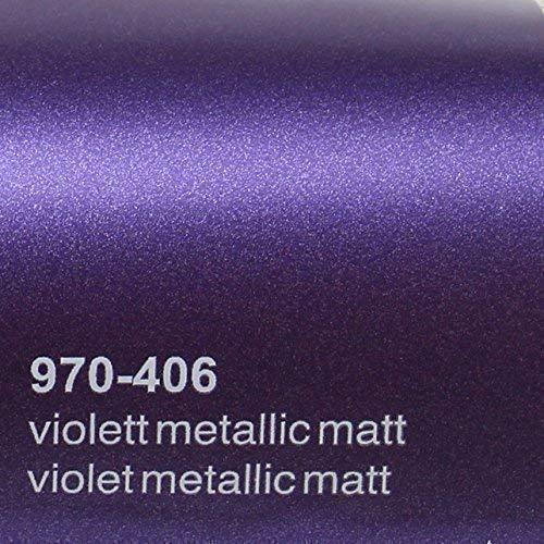20,72€/m² Oracal 970RA 406 Violett Matt Metallic gegossene Profi Autofolie 152cm breit BLASENFREI mit Luftkanäle