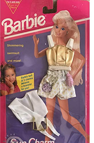 Barbie SUN CHARM FASHIONS w CHARMS BRACCIALE PER VOI Facile Da Vestire Vestito (1993)