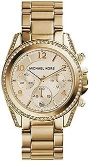 ساعة رسمية كوارتز انالوج بعقارب للنسـاء Mk5166 بسوار ذهبي من مايكل كورس، شاشة كرونوغراف