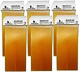 Dermawax 6x Roll on Wax Honig Wachs Warmwachs à 100 ml Roll-on Wachspatronen, Warmwachspatronen Enthaarungswachs, Haarentfernung- Enthaarung Waxing Körperpflege Nachfüllset