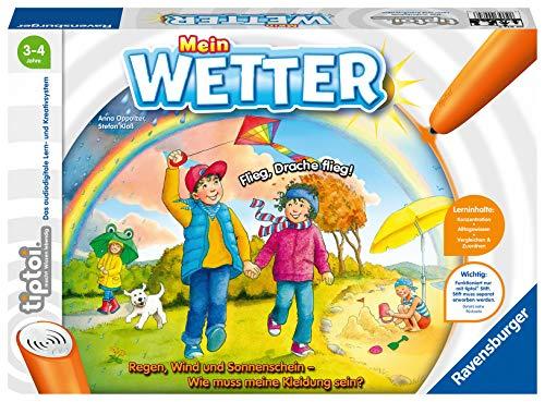 Ravensburger tiptoi Spiel 00074 Mein Wetter - Lernspiel von Ravensburger ab 3 Jahren für 1-4 Spieler