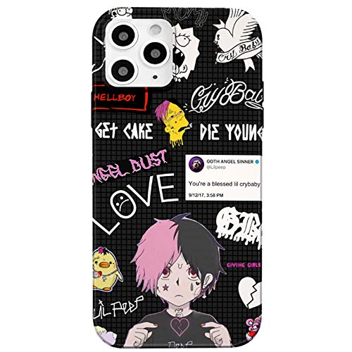 iPhone 12 case/iPhone 12 Pro case,Lil Peep Soft Slim Flexible TPU Cover with Full HD+Graphics for iPhone 12/iPhone 12 Pro(6.1) (Lil-Peep1)