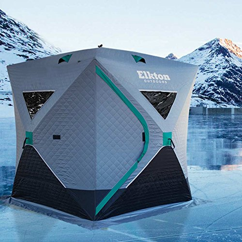 Elkton Outdoors Insulated 3-4 Person Portable Ice Shelter